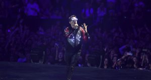Photo by: zz/KGC-138/STAR MAX/IPx 2019 9/15/19 EXCLUSIVE Muse performing in concert on September 15, 2019 at the O2 Arena in London, England, UK.